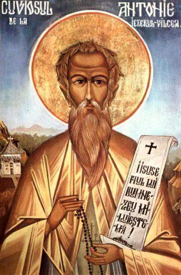 Sfântul cuvios Antonie de la Iezeru-Vâlcea (sau Antonie de la Schitul Iezeru) a trăit la sfârșitul sec. al XVII-lea, începutul sec. al XVIII-lea. A fost monah la schitul Iezeru din Vâlcea, nevoindu-se multă vreme într-o peșteră din apropierea acestuia, în muntele Iezeru. Prăznuirea sa se face pe 23 noiembrie - foto: doxologia.ro