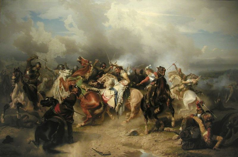 The Battle of Lützen by Carl Wahlbom shows the death of King Gustavus Adolphus on 16 November 1632 - foto: en.wikipedia.org