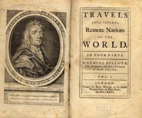 Călătoriile lui Gulliver - Primele pagini ale ediţiei originale din 1726 - foto: ro.wikipedia.org