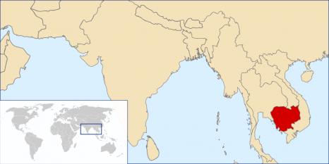 Amplasarea Regatului Cambodgiei - foto: ro.wikipedia.org