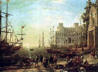 Port (Villa Medici) de Claude Lorrain (1637) - foto: ro.wikipedia.org