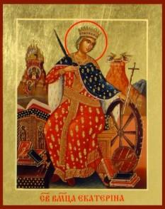 Mărita și slăvita Mare Muceniță Ecaterina din Alexandria a fost fiica guvernatorului Alexandriei egiptene, Contas, în timpul domniei împăratului Maximinus (305-313) și a pătimit pentru Domnul în anul 305. Prăznuirea ei în Biserica Ortodoxă se face în 24 noiembrie (slavii) sau în 25 noiembrie (grecii, românii, arabii) - foto: doxologia.ro