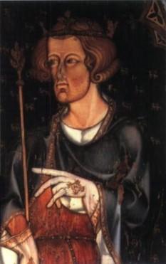"""Eduard I al Angliei (17 iunie 1239 - 7 iulie 1307) a domnit între anii 1272 și 1307, suindu-se pe tronul Angliei pe 21 noiembrie 1272 după moartea tatălui său, regele Henric al III-lea. Supranumit """"Picioare lungi"""", datorită staturii sale neobișnuit de înalte - foto (portret aflat la Westminster Abbey)(: ro.wikipedia.org"""