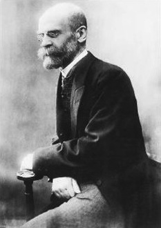 Emile Durkheim (n. 15 aprilie 1858, Épinal, Franța - d. 15 noiembrie 1917, Paris), filozof și sociolog francez de origine evreiască, considerat fondatorul școlii franceze de sociologie, având cea mai importantă contribuție în stabilirea academică a sociologiei ca știință și acceptarea acesteia în cadrul științelor umaniste - foto: ro.wikipedia.org