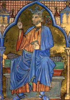 Ferdinand al III -lea supranumit și Ferdinand cel Sfânt (n. 30 iulie sau 5 august 1199 în Zamora; d. 30 mai 1252 în Sevilla), rege de Castilia și din anul 1230 rege al Castiliei și al Leónului - foto (Ferdinand al III-lea, secolul XIII, miniatură): ro.wikipedia.org
