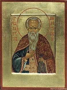 Cuviosul Filaret cel Milostiv - S-a născut în Galatia (Asia Mică). Pomenirea sa de catre Biserica Ortodoxa se face la data de 1 decembrie  foto: doxologia.ro