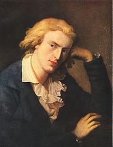 """Johann Christoph Friedrich von Schiller (n.10 noiembrie 1759, Marbach am Neckar, Baden-Württemberg - d. 9 mai 1805, Weimar), înnobilat în anul 1802, poet și dramaturg german, considerat unul din """"prinții poeziei germane"""" - in imagine, Friedrich Schiller în jurul anului 1790, de A. Graff - foto: ro.wikipedia.org"""