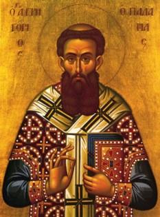 """Sfântul Grigorie Palama (1296 Constantinopol -1359), călugăr din Muntele Athos iar apoi Arhiepiscop de Tesalonic, a fost canonizat la nouă ani de la moartea sa. A rămas în istorie drept unul dintre cei mai mari teologi ai ortodoxiei, datorită implicării sale polemice împotriva lui Varlaam Calabrezul pentru a apăra Isihasmul (de la grecescul """"hesychia"""" care înseamnă calm și liniște). Este înscris în calendarul ortodox cu zi de prăznuire la data de 14 noiembrie, dar este cinstit în chip aparte în Duminica a doua a Sfântului și Marelui Post, numită și Duminica Sfântului Grigorie Palama - foto: basilica.ro"""