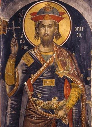 Sfântul Mare Mucenic Iacov Persul (+395), este unul dintre martirii Bisericii lui Hristos care au impresionat o lume întreagă de-a lungul secolelor prin cutremurătoarea lor pătimire pentru dragostea de Hristos. Apostat la început, iar apoi mărturisitor fierbinte, Sfântul Iacov a luat cununa grelei sale mucenicii în jurul anului 395, fiind prăznuit de Biserica Ortodoxă la 27 noiembrie - foto: ro.orthodoxwiki.org
