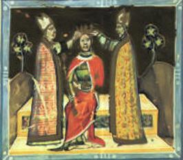 Imre al Ungariei sau Emeric al Ungariei (în croată Mirko, Emerik, iar în slovacă Imrich, n. 30 septembrie 1174 - d. 30 noiembrie 1204), rege al Ungariei din 1196 până în 1204, făcând parte din Dinastia Árpád - foto (Încoronarea lui Imre al Ungariei): ro.wikipedia.org