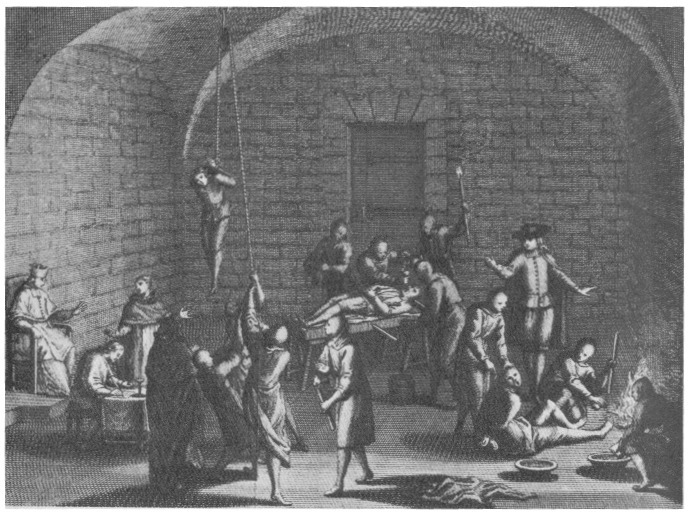 Camera de tortură a inchiziției. Mémoires Historiques (1716) - foto: ro.wikipedia.org