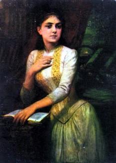 Iulia Hasdeu (n. 14 noiembrie 1869 – d. 29 septembrie 1888, București), tânără scriitoare și intelectuală română, poetă de limba franceză, fiica savantului Bogdan Petriceicu Hasdeu  foto:  ro.wikipedia.org