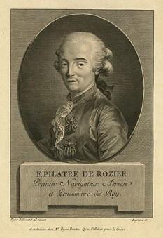 Jean-François Pilâtre de Rozier (n. 30 martie 1754 – d. 15 iunie 1785), profesor francez de fizică și chimie, unul dintre primii pionieri ai aviației - foto: ro.wikipedia.org