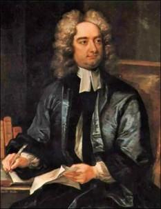 """Jonathan """"Isaac Bickerstaff"""" Swift (n. 30 noiembrie 1667, Dublin; d. 19 octombrie 1745, Dublin), scriitor englez, unul din cei mai importanți reprezentanți ai realismului din prima perioadă a iluminismului englez - foto: ro.wikipedia.org"""