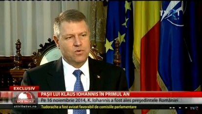 Intreviu în exclusivitate: Klaus Iohannis, după un an de mandat (@TVR1) - foto (captura): youtube.com