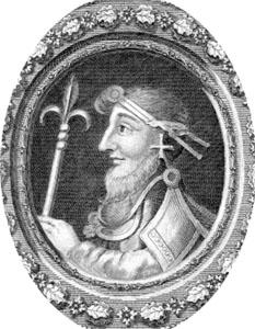 Knut cel Mare (c. 985 sau 995 – 12 noiembrie 1035), rege al Danemarcei, Angliei, Norvegiei precum și părți din Suedia. Este unul dintre cei mai importanți conducători din Evul Mediu Timpuriu - foto: cersipamantromanesc.wordpress.com