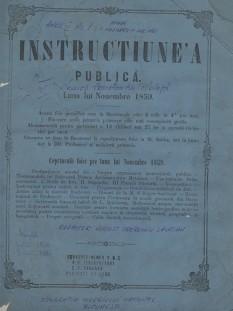 Prima lege modernă a învăţământului românesc. Legea instrucţiunii publice din 1864 - foto: istorie-pe-scurt.ro