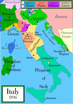 Marele Ducat de Toscana a fost o manarhie situată în Italia Centrală, cu întreruperi din 1569 până în 1859, înlocuind Ducatul de Florența. Capitala Marelui Ducat a fost Florența - foto: ro.wikipedia.org