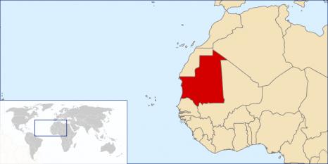 Amplasarea Mauritaniei - foto: ro.wikipedia.org