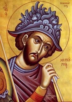 Sfântul Mare Mucenic Mercurie - A trăit în timpul împăraților Deciu (249-251) și Valerian (251-260), când aceștia porniseră persecuțiile împotriva creștinilor. Pomenirea sa de catre Biserica Ortodoxa se face la 25 noiembrie - foto: doxologia.ro