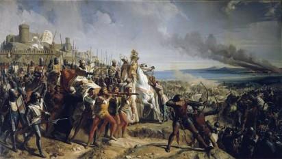 Bătălia de la Montgisard a avut loc între Saladin și Regatul Ierusalimului pe 25 noiembrie 1177 - foto (Bătălia de la Montgisard, 1177 de Charles Philippe Larivière): ro.wikipedia.org