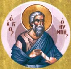 Sfântul Olimp face parte din cei şaptezeci de apostoli. Olimp şi Rodion, urmând Sfântului Apostol Petru, împreună au fost tăiaţi de Nero, în cetatea Romei. Prăznuirea sa se face pe 10 noiembrie în Biserica Ortodoxă - foto: doxologia.ro