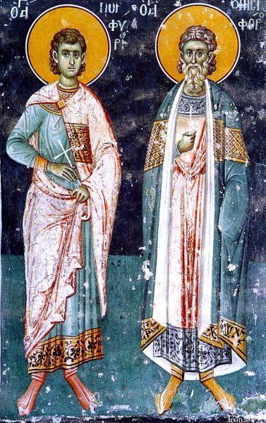 Sfinții Mucenici Onisifor și Porfirie. Prăznuirea lor de catre Biserica Ortodoxă se face la data de 9 noiembrie - foto: doxologia.ro