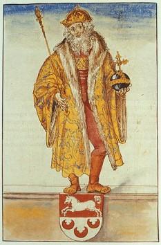 Otto I cel Mare (n. 23 noiembrie 912 – d. 7 mai 973), fiul lui Henric I regele germanilor și a Matildei von Ringelheim, a fost duce al saxonilor, rege al germanilor și primul împărat al Sfântului Imperiu Roman. (Cu toate că Charlemagne a fost încoronat împărat în 800, imperiul său a fost împărțit între nepoți, și ulterior asasinării lui Berengario în 924, titlul imperial a rămas vacant pentru aproape 40 de ani) - in imagine, Otto I, pictură de Lucas Cranach cel Bătrân - foto: ro.wikipedia.org