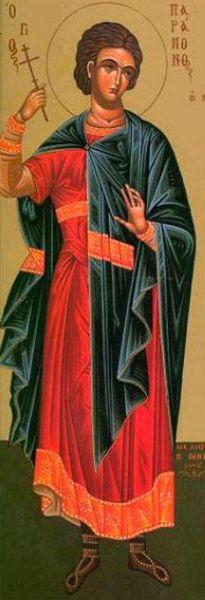 Sfântul Mucenic Paramon († 250) - A pătimit în timpul împăratului Deciu (249-251). Pomenirea sa de catre Biserica Ortodoxa se face la data de 29 noiembrie  foto: doxologia.ro