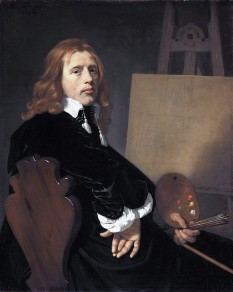 Paulus Potter (20 November 1625 (baptised) – 17 January 1654 (buried)) was a Dutch painter who specialized in animals within landscapes, usually with a low vantage point - foto (Portrait of Paulus Potter (1654) by Bartholomeus van der Helst): en.wikipedia.org