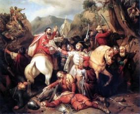 Fuga lui Carol Robert (Bătălia de la Posada), tablou de Molnar Jozsef (1855) - foto: commons.wikimedia.org