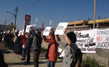 14 noiembrie 2015: Protest în Prelungirea Ghencea - foto: epochtimes-romania.com