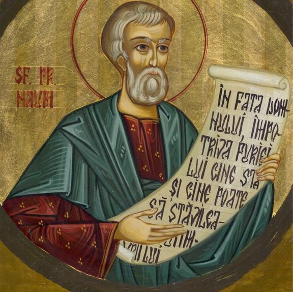 Sfântul Prooroc Naum. Prăznuirea sa în Biserica Ortodoxă se face la 1 decembrie - foto: doxologia.ro