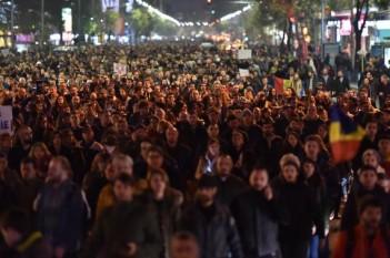 Protest - Bucuresti - 3 noiembrie 2015 foto: Agerpres