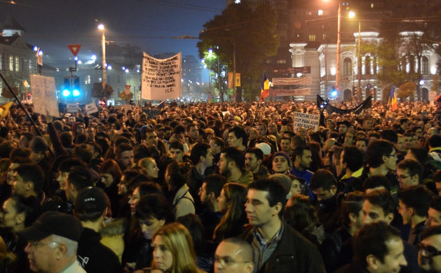 Protest Bucuresti 5 noiembrie 2015 foto: Epoch Times România