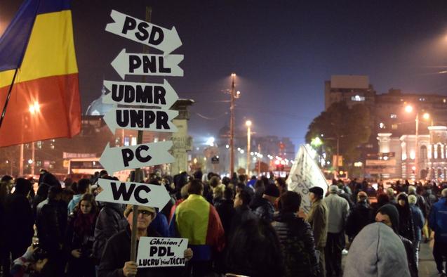 Proteste 8 noiembrie 2015 - Bucuresti, Piața Universitații - foto: Eugen Horoiu / Epoch Times România)