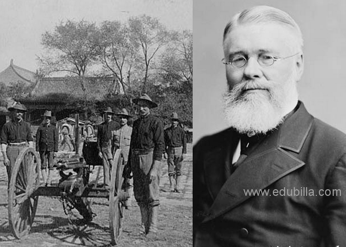 Richard Jordan Gatling (September 12, 1818 – February 26, 1903) was an American inventor best known for his invention of the Gatling gun, considered to be the first successful machine gun though is not a true machine gun by modern definitions - foto: edubilla.com