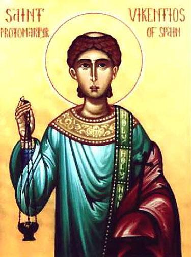 Sfântul Mucenic Vichentie. Prăznuirea sa de către Biserica Ortodoxă se face la data de 11 noiembrie - foto: doxologia.ro