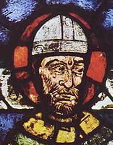 Thomas Becket (c. 1118, Londra – d. 29 decembrie 1170, Canterbury), arhiepiscop de Canterbury din 1162 până în 1170, în timpul regelui Henric al II-lea Plantagenet. Este venerat ca sfânt și martir și de Biserica Catolică și de Biserica Anglicană. Ridicându-se împotriva limitării drepturilor bisericii de către puterea regală, a fost ucis din ordinul regelui foto (Thomas Becket reprezentat pe un vitraliu al Catedralei din Canterbury): ro.wikipedia.org