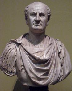 Vespasian, cunoscut și ca Caesar Vespasianus Augustus, sau Titus Flavius Vespasianus (n. 17 noiembrie 9 la Cittareale – d. 23 iunie 79 la Roma), împărat roman din decembrie 69 (Anul celor patru împărați) până în iunie 79 - foto (Vespasian, bust expus în muzeul Pușkin, copie după un original de la Louvre): ro.wikipedia.org