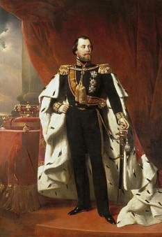 Willem al III-lea (Willem Alexander Paul Frederik Lodewijk; 19 februarie 1817 – 23 noiembrie 1890), rege al Olandei și Mare Duce de Luxembourg din 1849 până la moartea sa și Duce de Limburg până la abolirea Ducatului în 1866 - foto -Regele Willem al III-lea de Nicolaas Pieneman (1856): ro.wikipedia.org