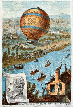 21 noiembrie 1783: La Paris, primul zbor din lume într-un balon cu aer cald foto: ro.wikipedia.org