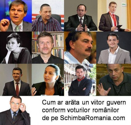 """Guvernul """"Schimbăm România"""" foto: facebook.com"""