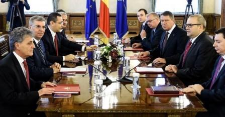 Consultari ale presedintelui Klaus Iohannis cu partidele (PSD) la Cotroceni foto: romaniacurata.ro