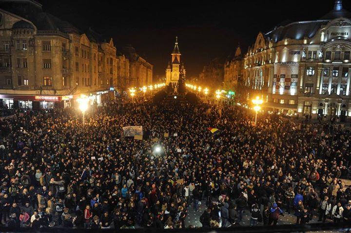 Proteste 4 noiembrie 2015; Timisoara foto: romaniacurata.ro