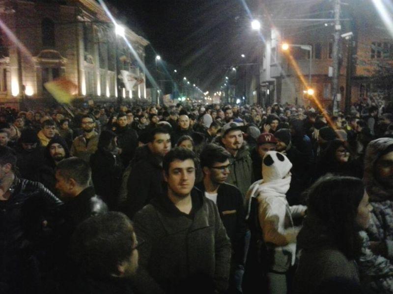 Proteste 4 noiembrie 2015; Cluj foto: Călin Goina