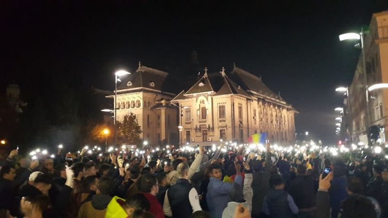 Proteste 4 noiembrie 2015; Craiova foto: romaniacurata.ro