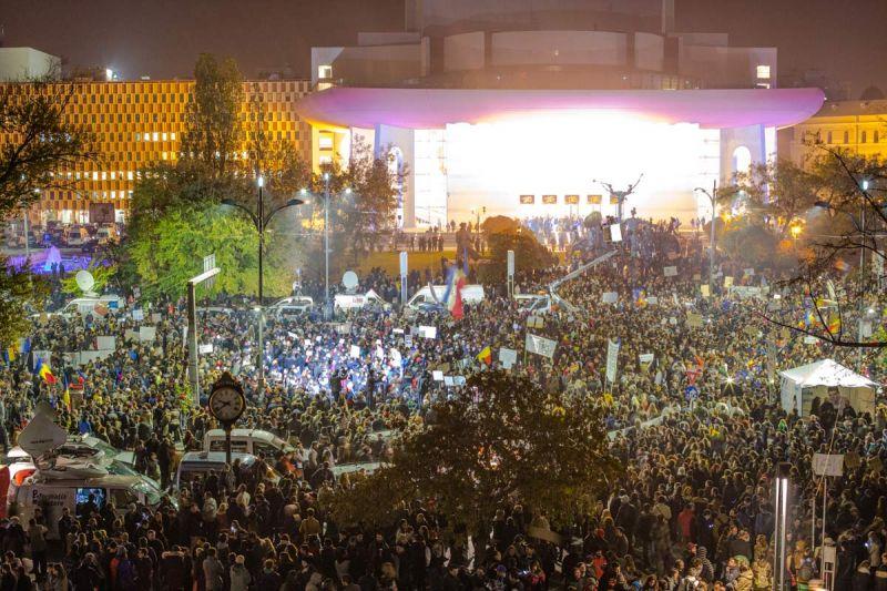 Protest Bucuresti 5 noiembrie 2015 foto: hotnews.ro