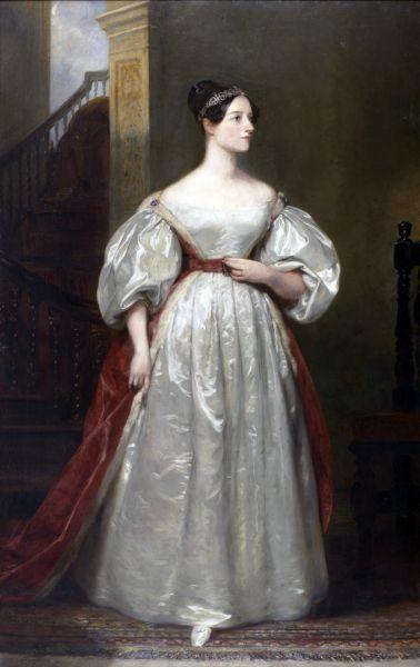 Augusta Ada King, Contesă de Lovelace (10 decembrie 1815 - 27 noiembrie 1852), născută Augusta Ada Byron, iar acum cunoscută sub numele de Ada Lovelace, a fost o matematiciană engleză şi o scriitoare cunoscută în principal pentru munca ei la calculatorul mecanic al lui Charles Babbage, motorul analitic. Consemnările ei privind motorul includ ceea ce este recunoscut ca fiind primul algoritm care urmează să fie procesat de către o maşină. Din acest motiv, ea este adesea considerată primul programator de calculator din lume - in imagine, Portretul Adei Lovelace, creat de Margaret Sarah Carpenter (1836) - foto: ro.wikipedia.org