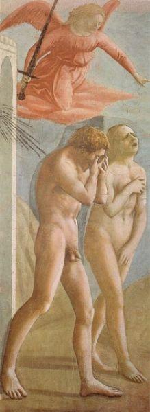 """Masaccio: Alungarea din Paradis - Capela """"Brancacci"""" - foto: ro.wikipedia.org"""